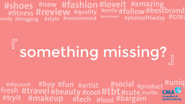 The words 'something missing' surrounded by hashtags