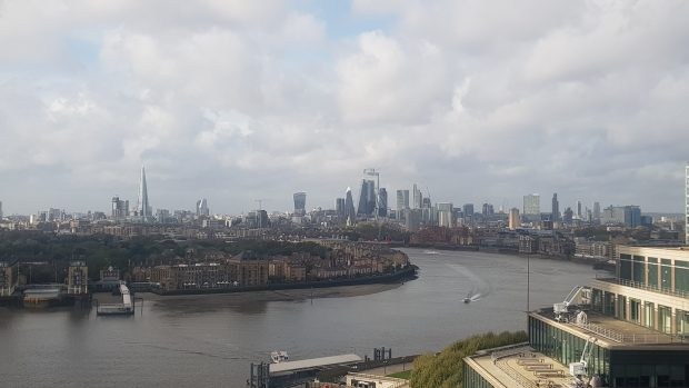 View of London city