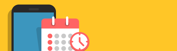 phone with calendar and clock image