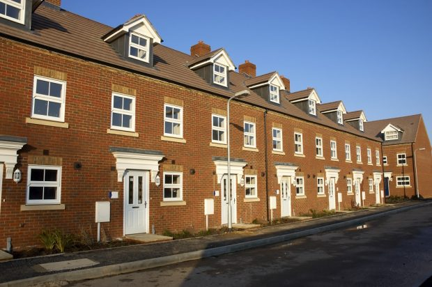 Row of new build homes