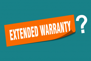 Banner saying: Extended warranty?